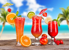 Summer cocktails Royalty Free Stock Photography