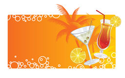 Summer Cocktails Banner Royalty Free Stock Images