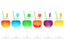 Summer Cocktails Royalty Free Stock Photos