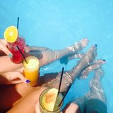 Summer cocktails Royalty Free Stock Image