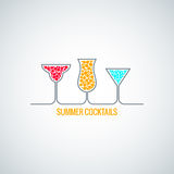 Summer  cocktails menu background Royalty Free Stock Photo
