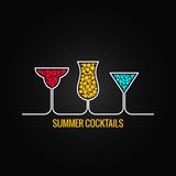 Summer cocktails menu background illustration Stock Photo