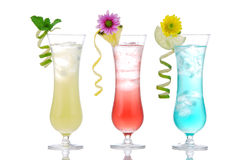 Summer Cocktails Mojito, Martiny, Margarita Royalty Free Stock Photo