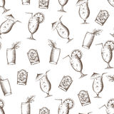 Summer cocktails seamless pattern Stock Images