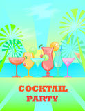 Summer Cocktails. Vector background Stock Image