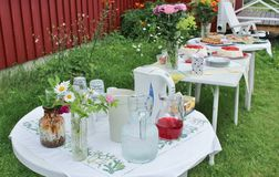 Summer coffe party Royalty Free Stock Photo