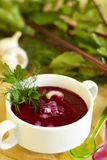 Summer Cold Beet Soup Stock Photo