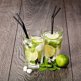 Summer cold cocktail drink mojito Stock Photo