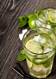 Summer cold cocktail drink mojito Stock Photography