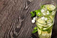 Summer cold cocktail drink mojito Stock Photos
