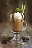Summer cold drink chocolate frappuccino. Royalty Free Stock Photo