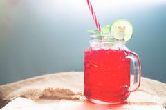 Free Summer Cold Drink With Lemon Sliced And Mint, Refreshing Summer Royalty Free Stock Photography - 116093737