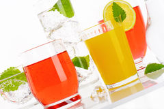 Summer cold drinks royalty free stock photos
