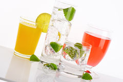 Summer cold drinks stock photography
