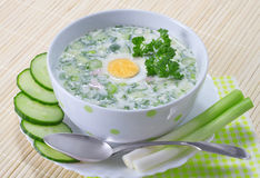 Summer cold soup Stock Photography