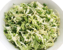 Summer coleslaw and greens Royalty Free Stock Photos