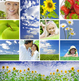 Summer collage. Summertime theme photo collage composed of few images Royalty Free Stock Images