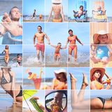 Summer collage royalty free stock photos