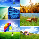 Summer collage Royalty Free Stock Image