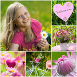 Summer collage Royalty Free Stock Photo