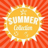Summer collection background design Royalty Free Stock Photos