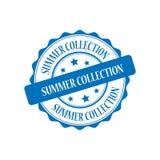 Summer collection stamp illustration. Summer collection blue stamp seal illustration design Stock Photos