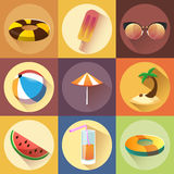 Summer collection. Isolated vector objects Royalty Free Stock Image
