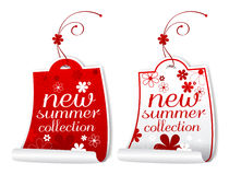 Summer collection labels. Royalty Free Stock Photography