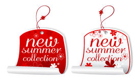 Summer collection labels. Royalty Free Stock Images