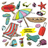 Summer collection Royalty Free Stock Images