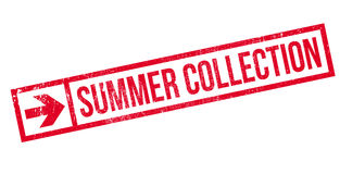 Summer collection stamp. Grunge design with dust scratches. Effects can be easily removed for a clean, crisp look. Color is easily changed Stock Image