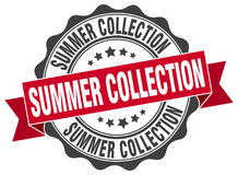 Summer collection stamp. Sign. seal Royalty Free Stock Image