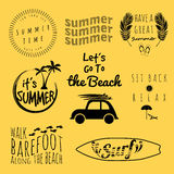 Summer collection vector Royalty Free Stock Photo