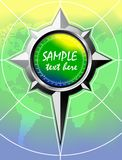 Summer Color Background With Compass rose. Royalty Free Stock Photos