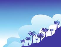 Summer color background with palm trees Royalty Free Stock Photos