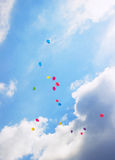 Summer color Balloons Flying Stock Photos