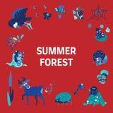 Summer color doodle2 royalty free illustration