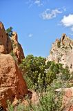 Summer in Colorado. Garden of the Gods. Summer in the Rockies. Vertical Photo. Nature Photo Collection Royalty Free Stock Image