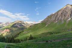 Summer in the Colorado Mountains. The scenic landscape of the southwest Colorado mountains in summer Royalty Free Stock Photo