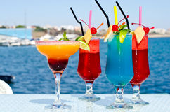 Summer Colored Fruit Cocktail. Stock Photography