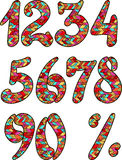Summer colored numbers and percent symbol Stock Image