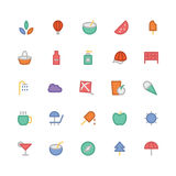 Summer Colored Vector Icons 4 Royalty Free Stock Photos