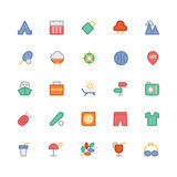 Summer Colored Vector Icons 6 Stock Image