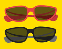 Summer colorful sunglasses Royalty Free Stock Photography
