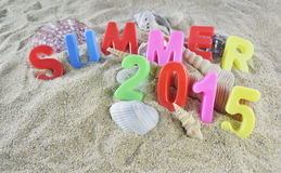 Summer 2015 colorful text Royalty Free Stock Photography