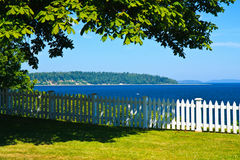 Summer colors, backyard view, Port Gamble, WA Stock Photo