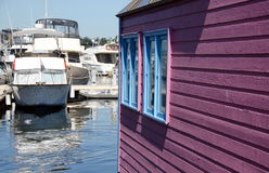 Summer colors in float home village, Victoria Stock Images
