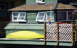 Summer colors in float home village, Victoria - 6 Stock Photos