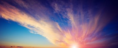 Summer colors sky and clouds stock photography
