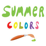 Summer colors at the tip of a brush Stock Photos